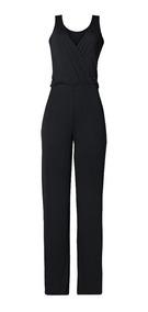 Macacão Transpassado Plus Size Longo Decote V Pantalona