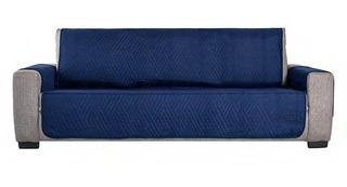 Protector De Sillon Para Sofá Humo Doble Vista Azul Vianney