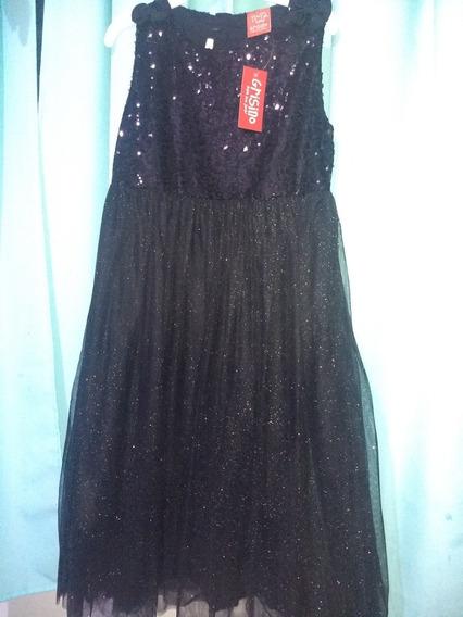 Vestido De Fiesta Nuevo Grisino T.11/12 Negro