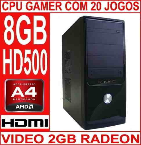 Cpu Gamer 8gb Hd 500 Video 2gb Cabo De Força Brinde