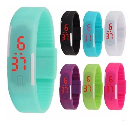Reloj Pulsera Touch Led Digital Silicon Barato