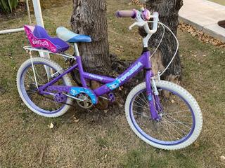 Bicicleta Rodado 20 Niña Color Violeta Princess Topmega