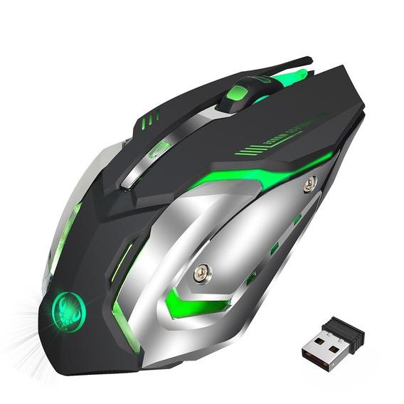 Hxsj M10 Gaming Mouse Sem Fio 2400 Dpi Recarregvel 7 Cores