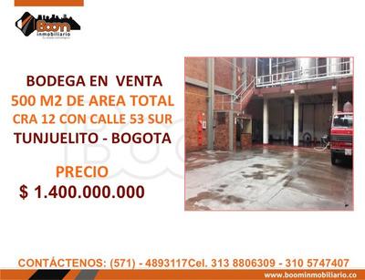 **venta Bodega Tunjuelito 500 M2