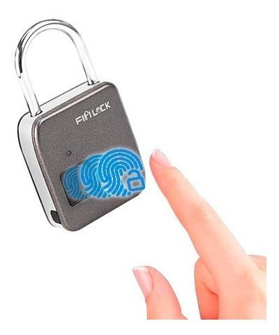Cadeado Digital Biométrico Globaltools Gt003 Carga Via Usb