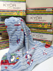 Cobertor Bebe Menino Jolitex Microfibra Kyor Plus Marinheiro