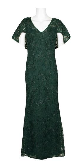 Elegante Vestido De Noche Adrianna Papell 100% 0riginal