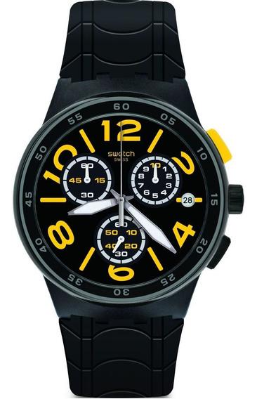 Relógio Swatch Pneumatic Masculino Preto Susb412