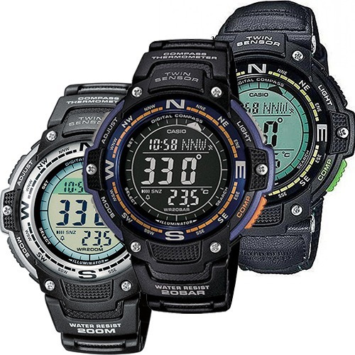 Reloj Casio Outgear Sgw100 Caucho Brújula Termómetro
