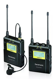 Microfone Lapela Sem Fio Uhf Saramonic Uwmic10 Com Receptor