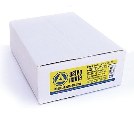 Etiquetas Autoadhesivas Astronauta Carta/a4 Blancas X 500 Hj