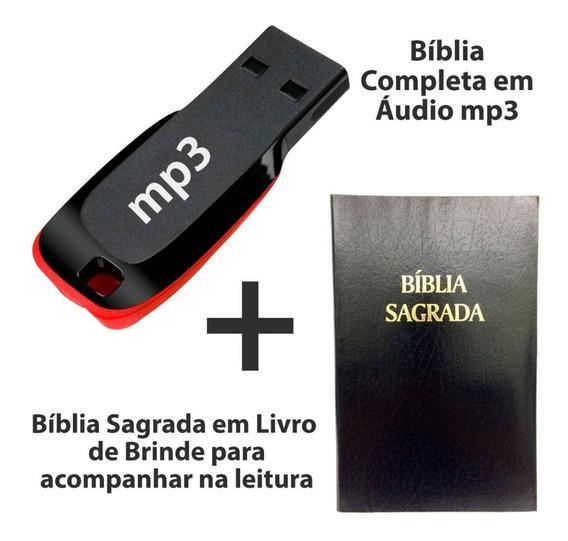 A Bíblia Sagrada No Pendrive Formato Mp3 + Bíblia Livro