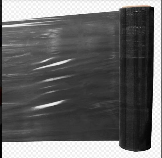4 Rollos Polystrech Color Negro 18 Inch X 1000 Ft Emplaye