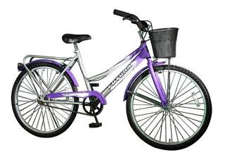 Bicicleta Rodado 26 Paseo Dama Con Canasto Futura Bici Refor