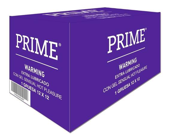 Prime Preservativos Warming 12x12 Caja De 144 Unidades