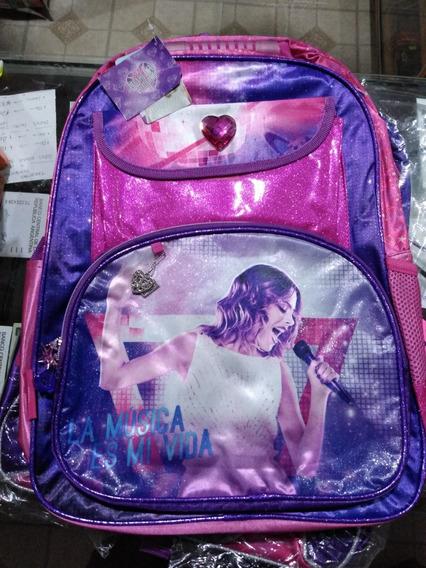 Mochila Violeta Disney Grande Footy / Biemer