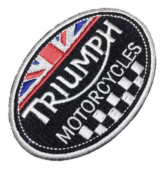 Triumph Mot268 Patch Bordado Para Jaqueta Camisa Macacão