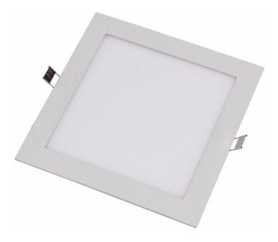 Kit 3 Lampadas Led Painel Quadrado Slim 12w Fria Gesso Embut