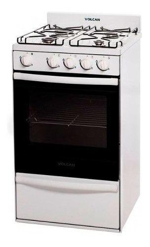 Cocina Volcan Blanca 55cm 89649v Parrilla Doble Vidrio