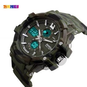 Relógio Skmei Militar Exército Camuflado Promoção C/caixa