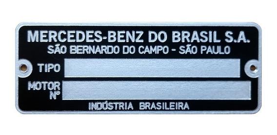 Plaqueta Motor Mercedes Benz Gravada Pronta