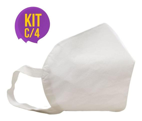 Kit C/4 Máscaras - 2 Camadas Impermeável E Lavável 10140740