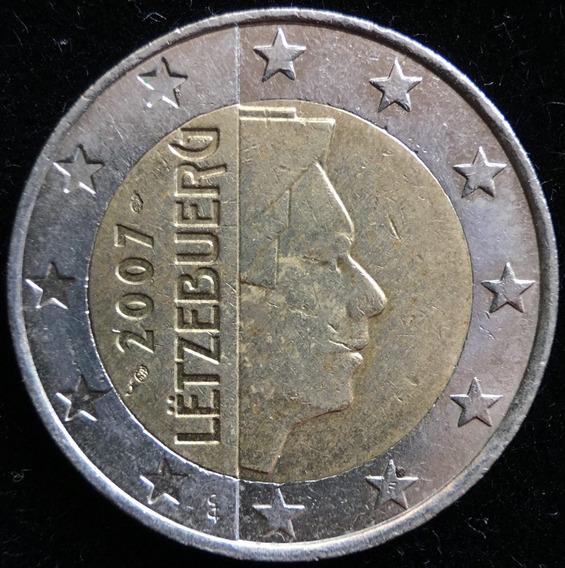 Luxemburgo, 2 Euros, 2007. Bimetalica. Vf+
