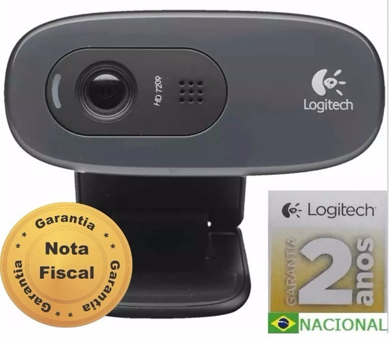 Webcam Logitech C270 Hd 720p Pc Notebook - Pronta Entrega