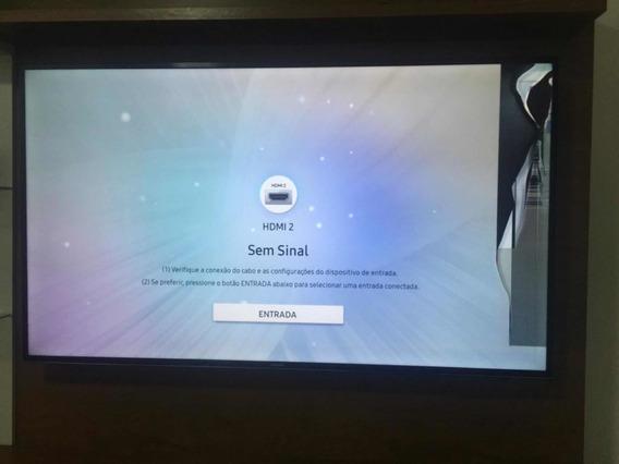 Tv Samsung 4k 55 Pol Tela Quebrada Mu6100 Pouco Tempo De Uso
