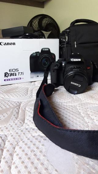 Câmera Canon T7i Kit Lente 18-55 Usada