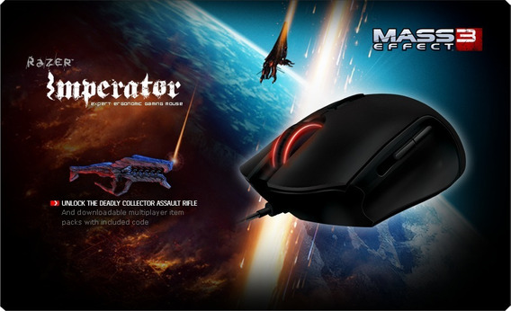 Mouse Razer Imperator 4g 6400 Dpi Mass Effect Ed (defeito)