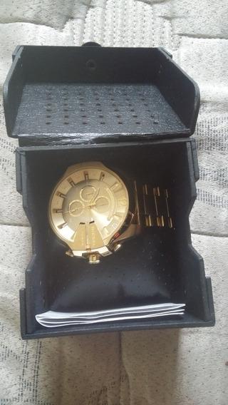 Relógio Diesel Maquinário A Ouro