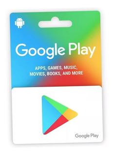 Cartão Google Play Store Usa Android U$10 Envio Imediato