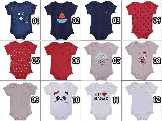 Roupinhas Bebê Body Infantil C/ 3 Unid Unissex 100% Algodão