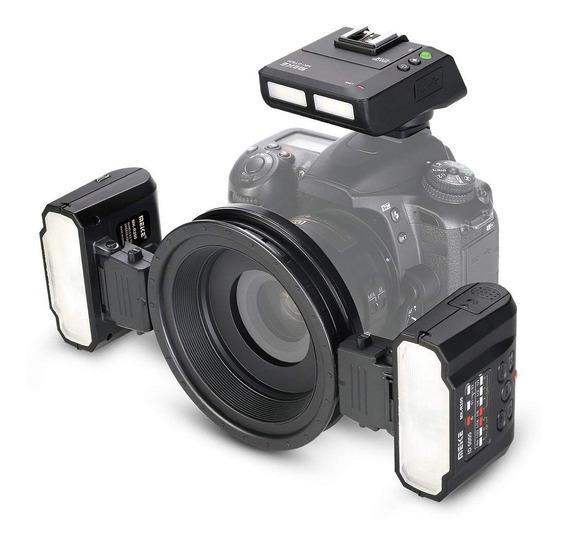 Flash Macro Twin Lite Meike Mk-mt24 Para Câmeras Nikon Dslr