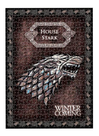 Quebra-cabeça Game Of Thrones Casa Stark 500 Peças Estrela