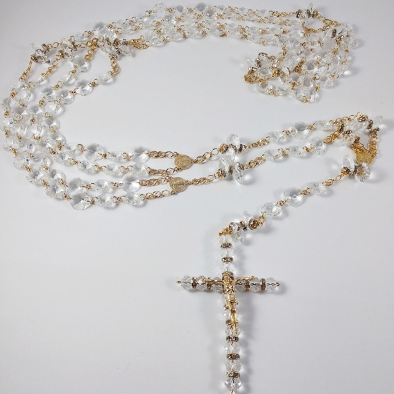 Lazo Matrimonial Chapa De Oro Perla Cristal Checo Giselle 05