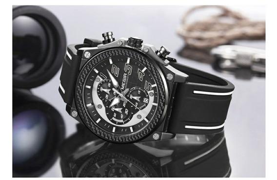 Relógio Megir Cronógrafo (frete Barato Para Norte)