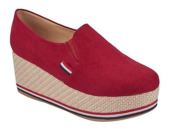Zapatos Para Dama Color Rojo Tipo Gamuza Terra 022200
