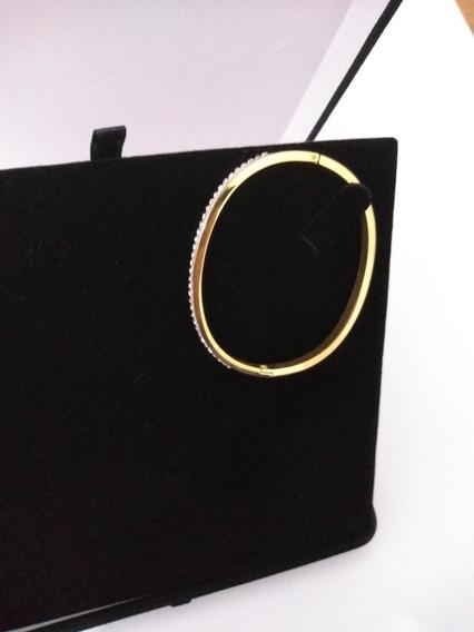 Bracelete Pulseira Feminina Banhado Ouro 18k Zircônia