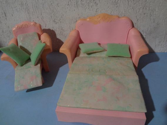 Sofá Cama / Poltrona Da Barbie Anos 80