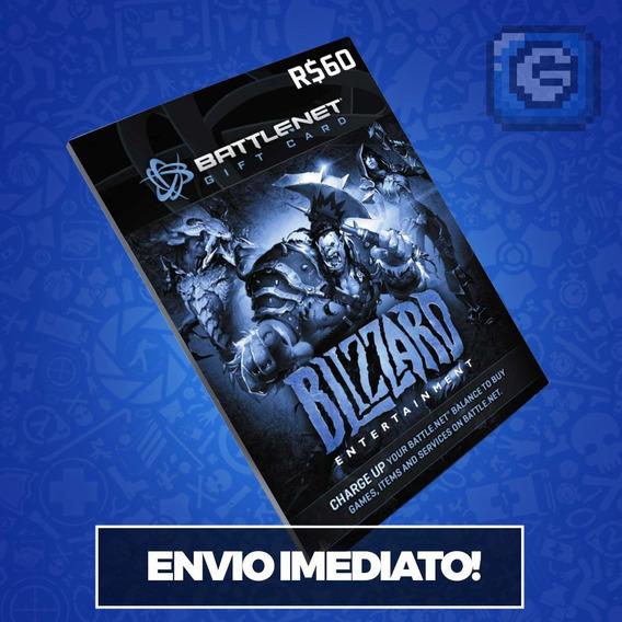 Cartão Battle.net Blizzard Wow R$ 60 (r$30 + R$30) Reais
