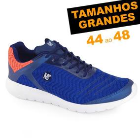 Tênis Ms Fit 1515 Tamanhos Grandes 44 45 46 47 48 Super Leve