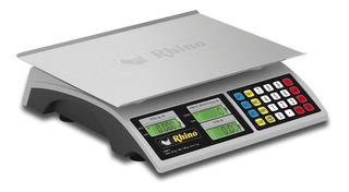 Báscula Rhino Bar-7 Envío Gratis Gallo 30kg / 2g Comercial Tamaño Perfecto Te Da Peso Precio E Importe