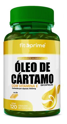 Imagem 1 de 3 de Óleo De Cártamo Com Vitamina E 1000mg 120cps Fitoprime