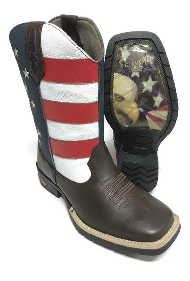 Bota Texana Country Masculina Bandeira Dos Estados Unidos