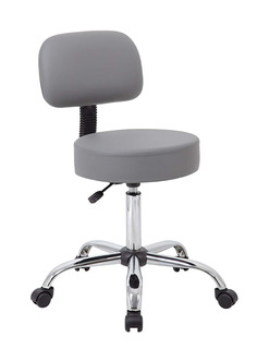 Silla Ajuste Profesional Con Respaldo Gris Boss Office Produ
