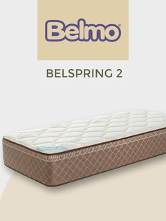 Colchón Belmo Belspring 2 Resortes 190 X 80 1 Plaza Pillow