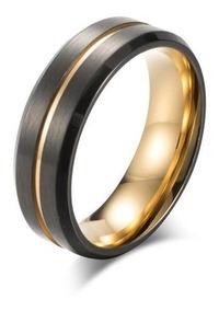 Anel Dourado Style Aço Inoxidável Unissex