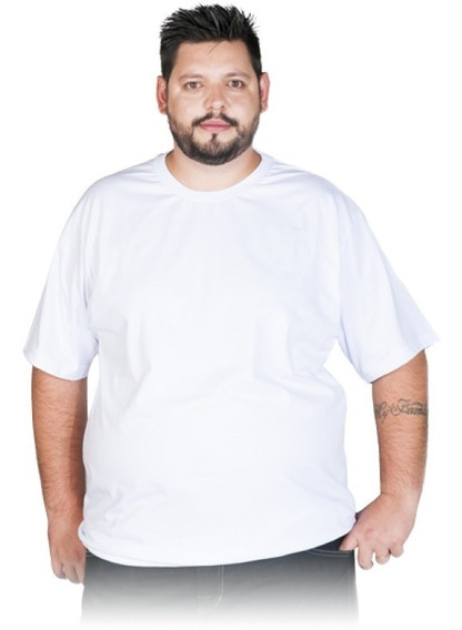 Camisetas Extra / Plus Size Poliéster Gola Redonda